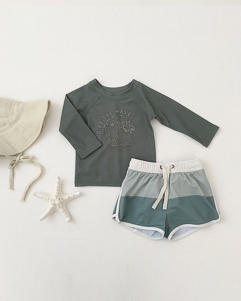 swim trunk || colorblock - Rylee + Cru | Kids Clothes | Trendy Baby Clothes | Modern Infant Outfits |
