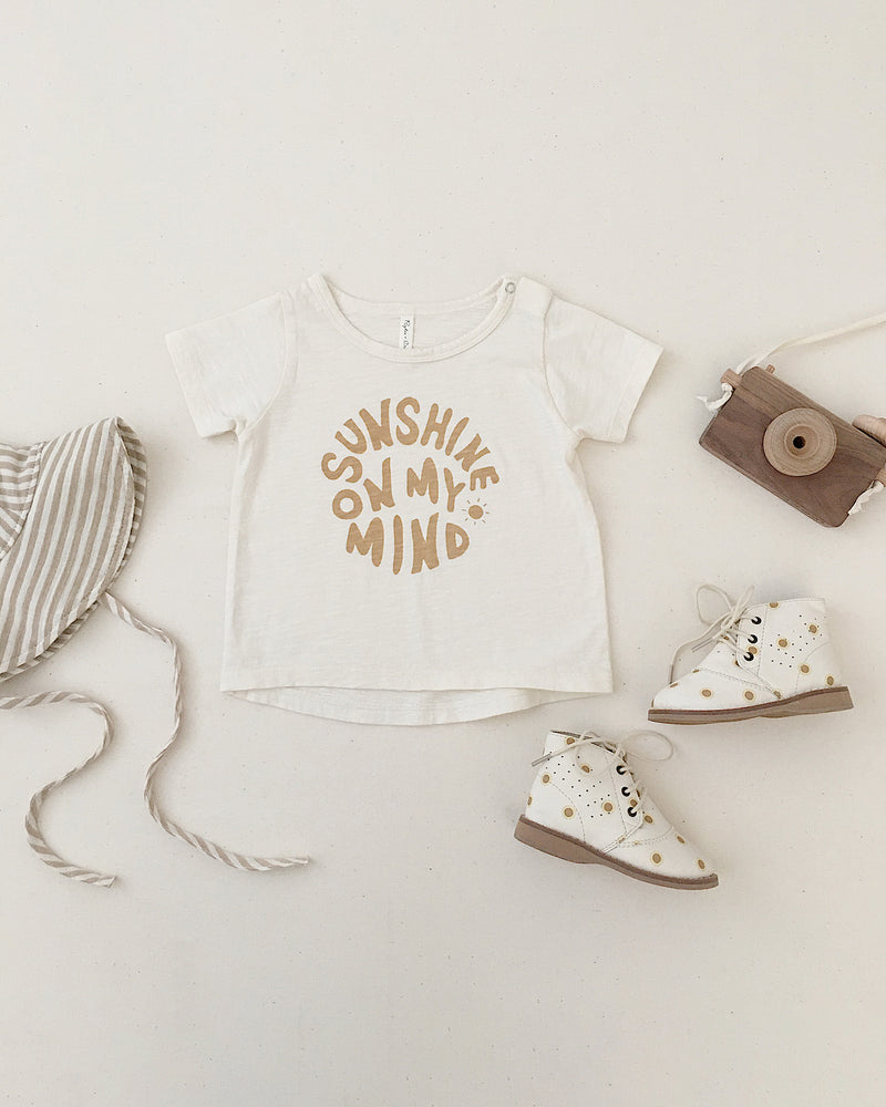 basic tee || sunshine on my mind - Rylee + Cru | Kids Clothes | Trendy Baby Clothes | Modern Infant Outfits |