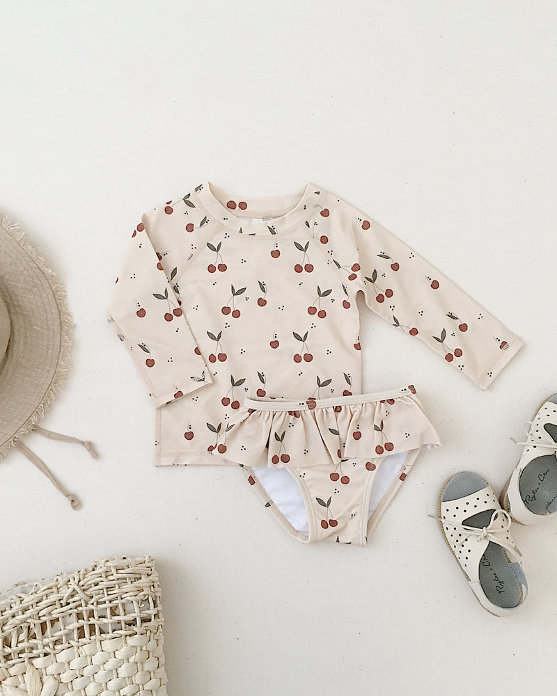 rashguard set || cherries - Rylee + Cru | Kids Clothes | Trendy Baby Clothes | Modern Infant Outfits |