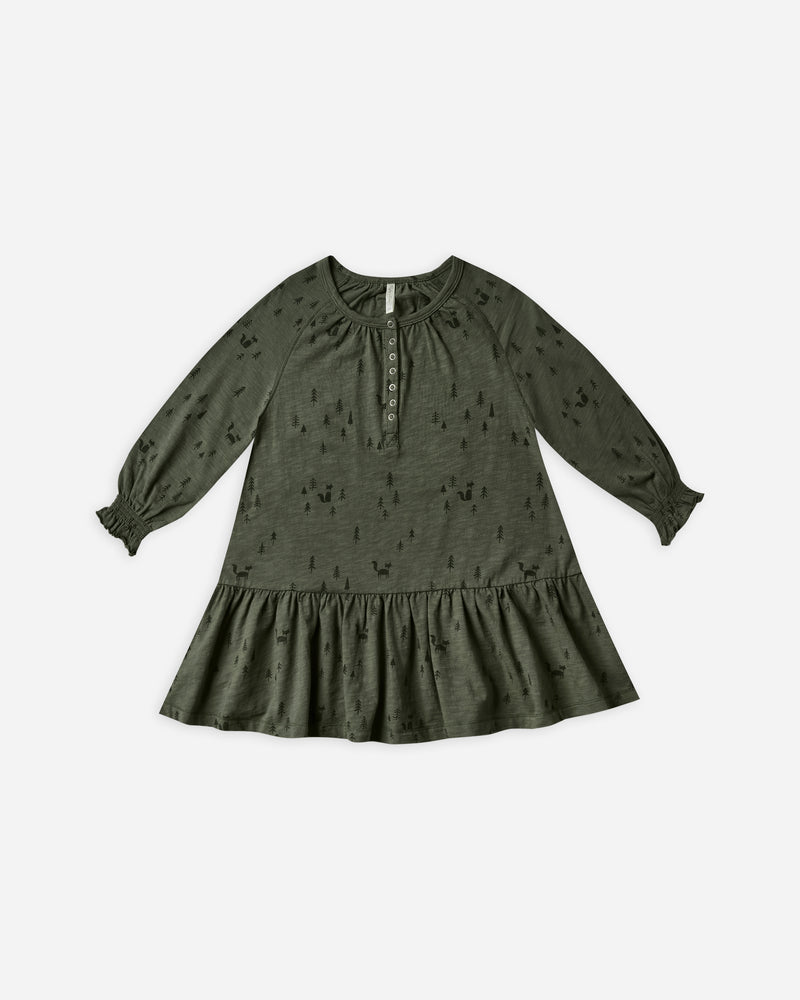 woods swing dress || forest - Rylee + Cru