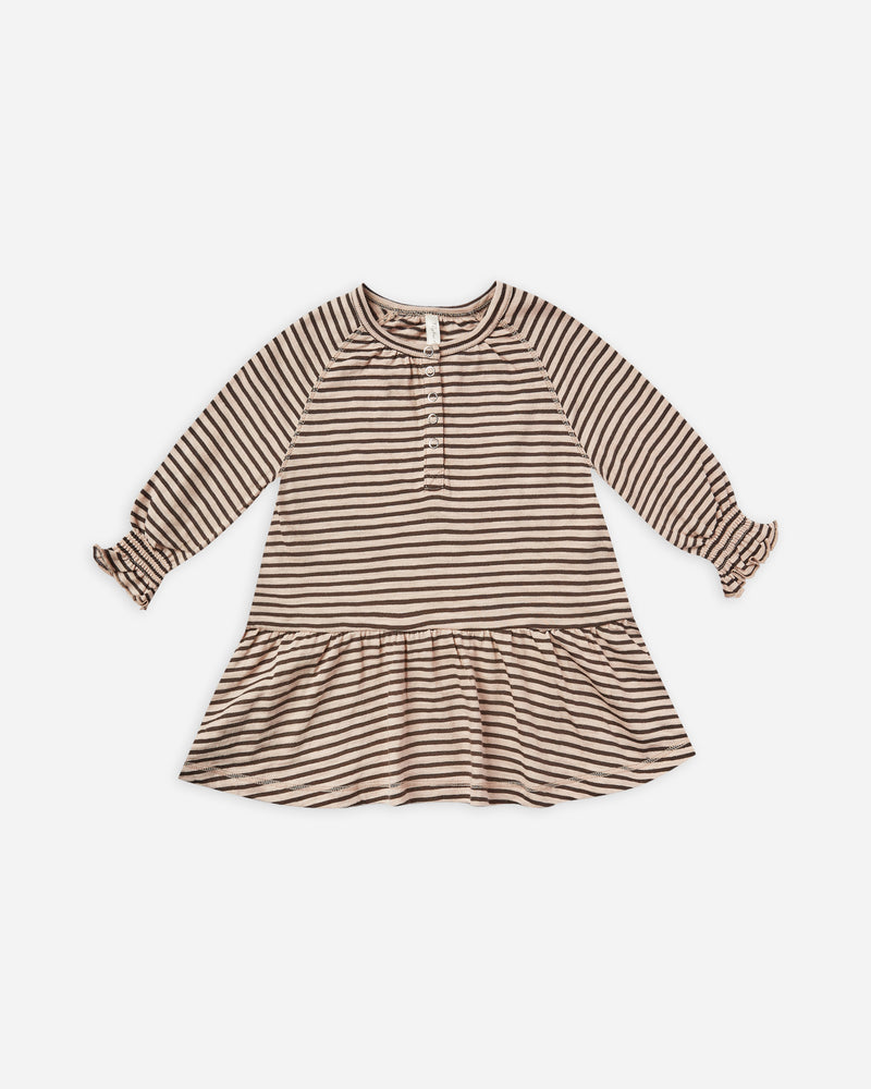 stripe swing dress || oat/black stripe - Rylee + Cru