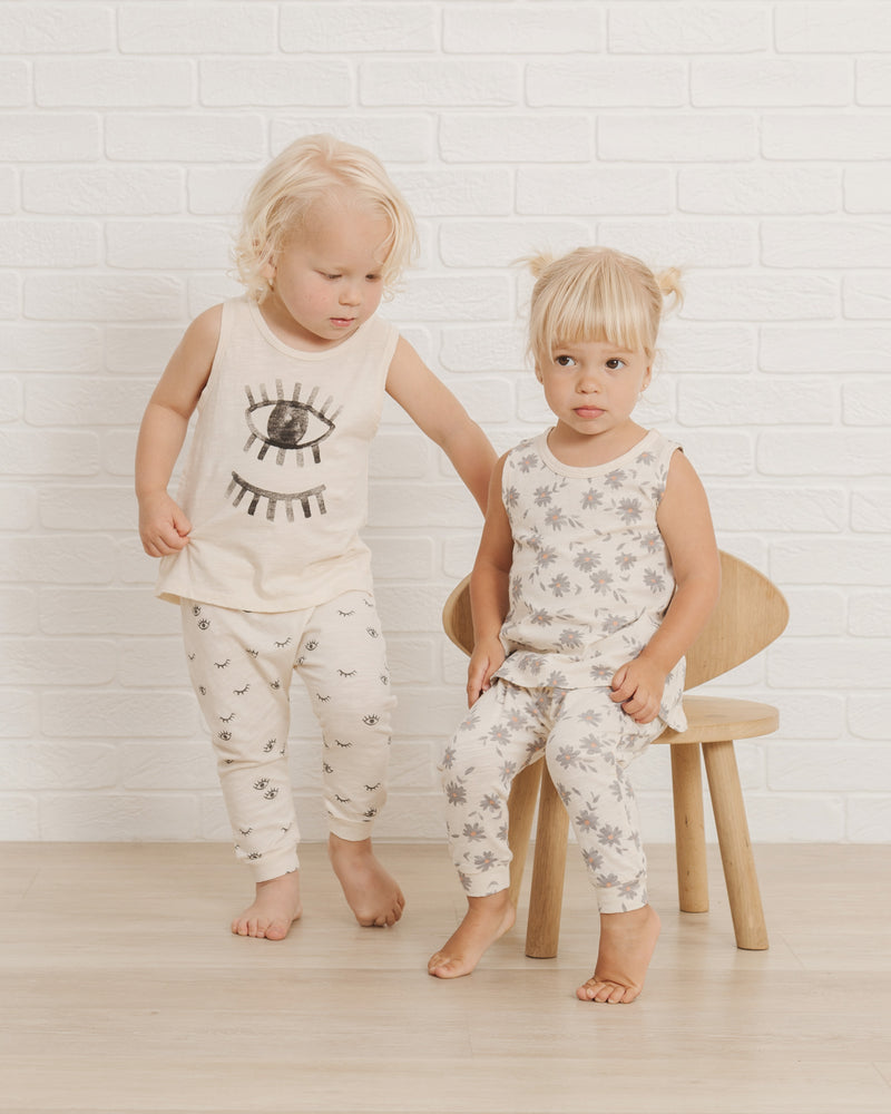 Slub Tank || Daisies - Rylee + Cru | Kids Clothes | Trendy Baby Clothes | Modern Infant Outfits |