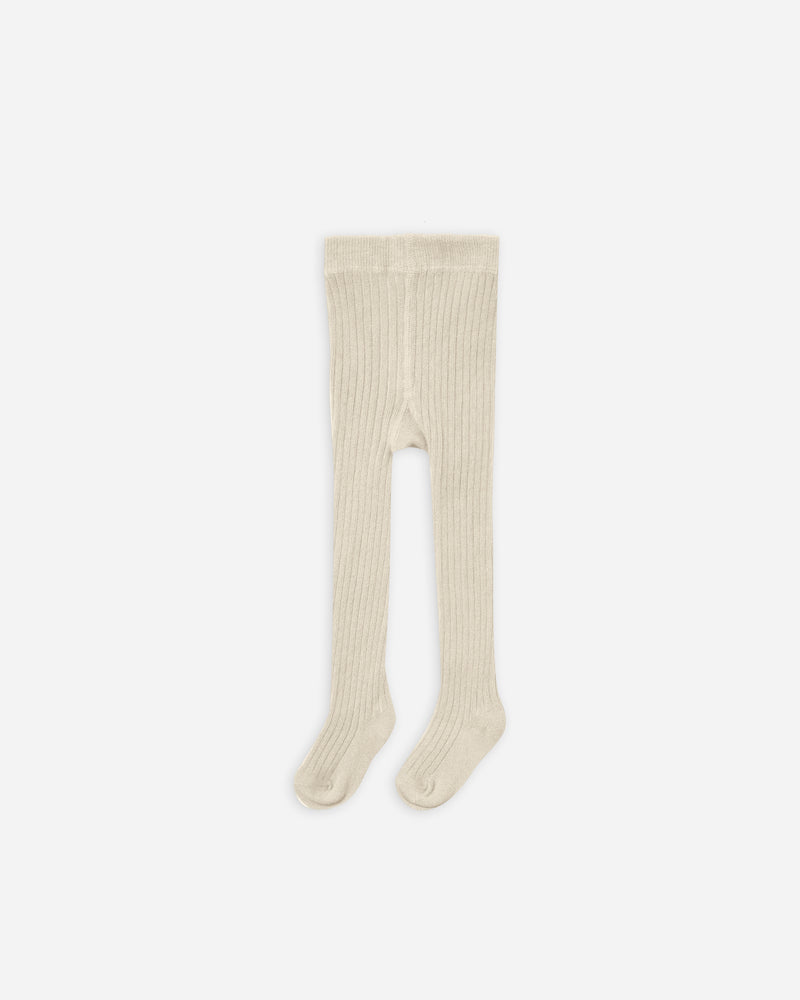 rib knit tights || natural - Rylee + Cru