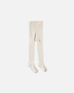 solid ribbed tights || natural - Rylee + Cru
