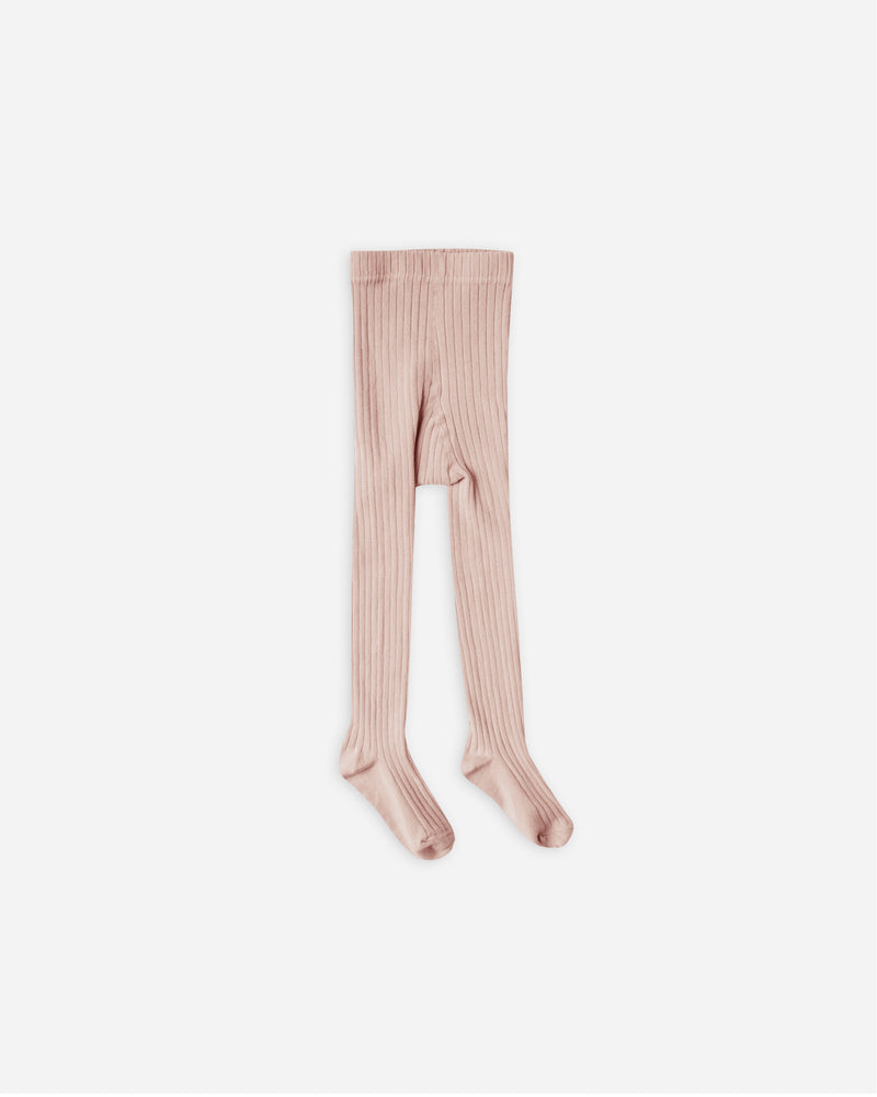 solid ribbed tights || petal - Rylee + Cru