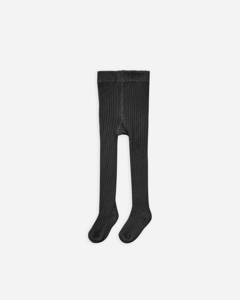rib knit tights || vintage black - Rylee + Cru | Kids Clothes | Trendy Baby Clothes | Modern Infant Outfits |