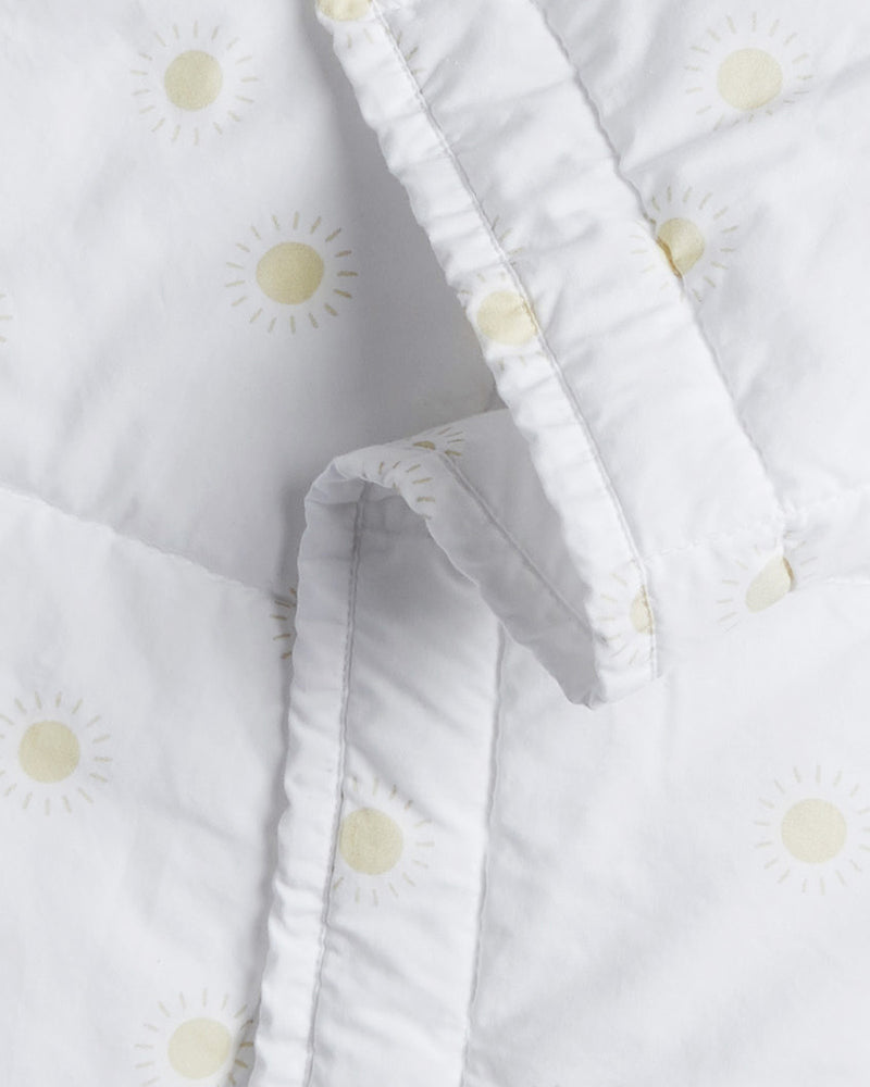 baby quilt || sunburst, white - Rylee + Cru | Kids Clothes | Trendy Baby Clothes | Modern Infant Outfits |