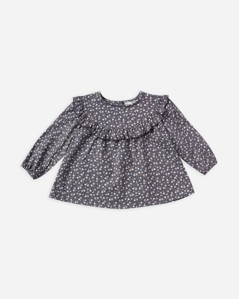 victoria blouse || washed indigo ditsy - Rylee + Cru