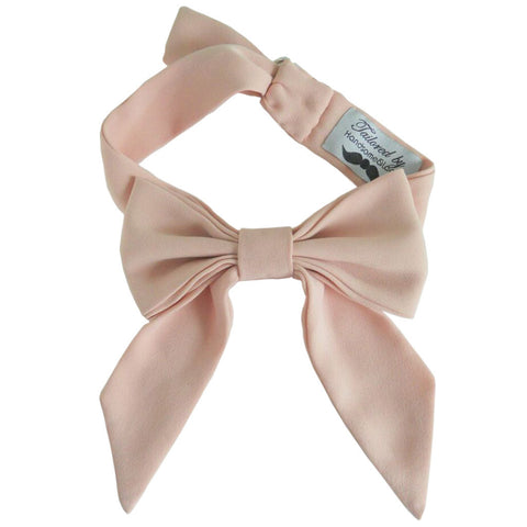 Dusty Rose Pink French Bowtie