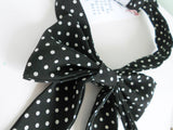 Black & White Polka Dot French Bowtie
