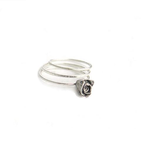 Delicate Rose Stacking Rings