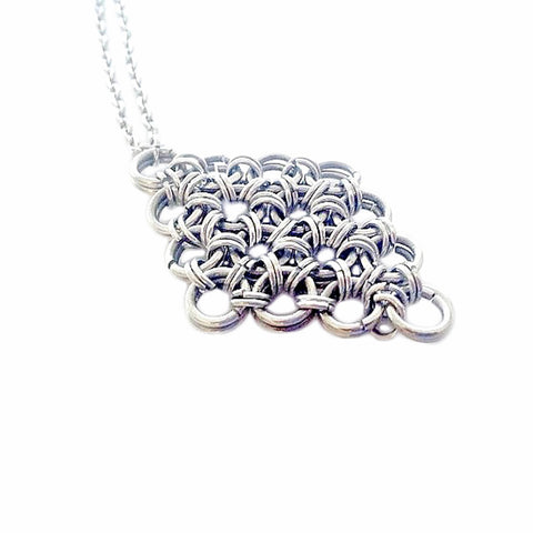 Diamond Chainmaille Necklace