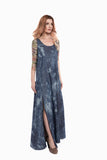 Tie Dye Denim Maxi Dress