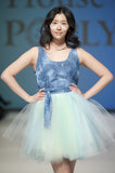 Tulle Skirt With Denim Waistband