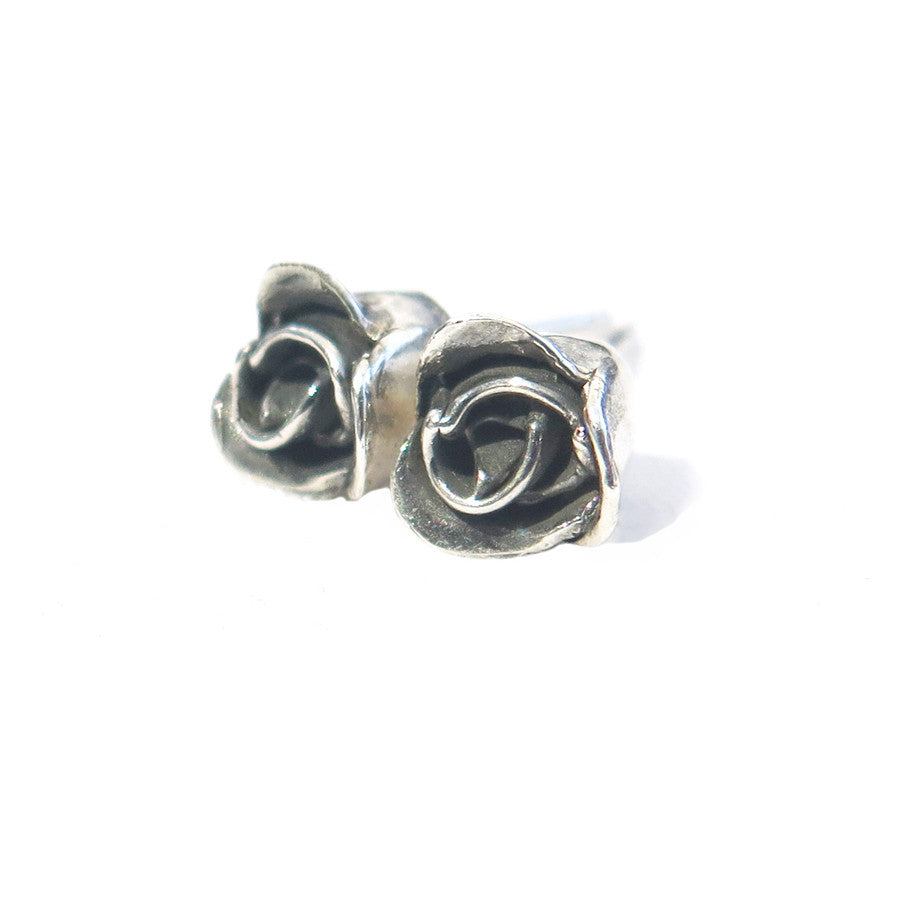 Single Rose Stud Earrings