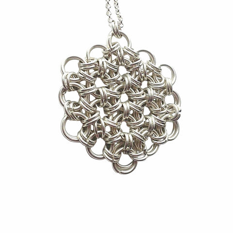 Flower of Life Chainmaille Necklace
