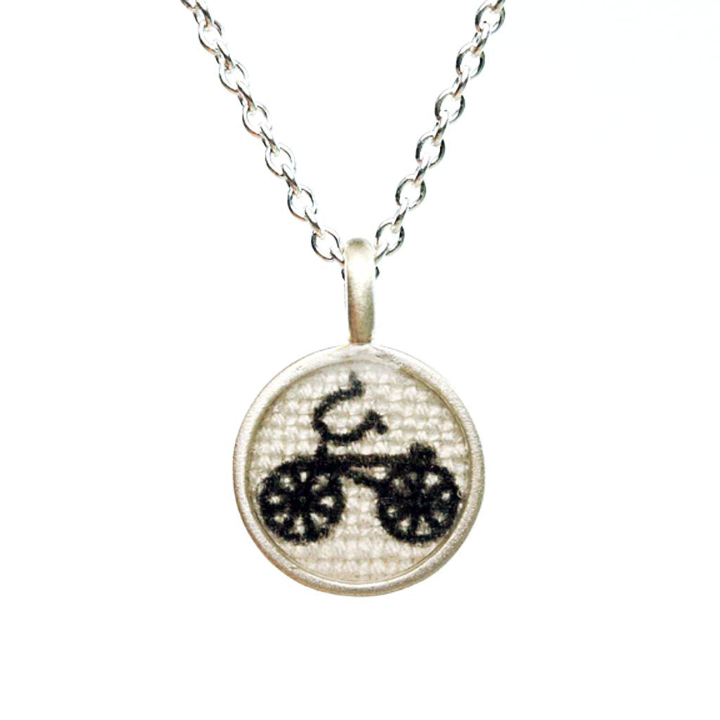 Tiny Bike Necklace