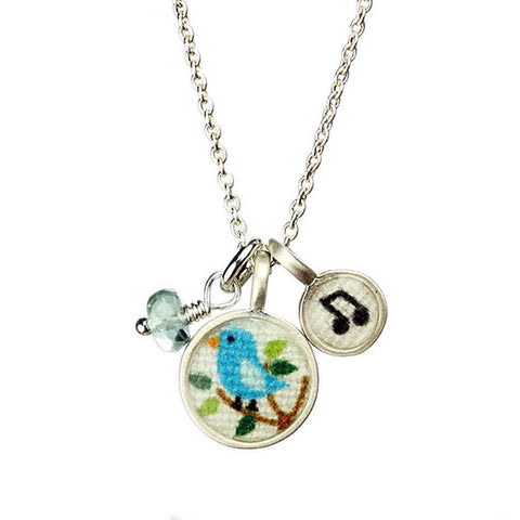 Singing Bird Charm Necklace