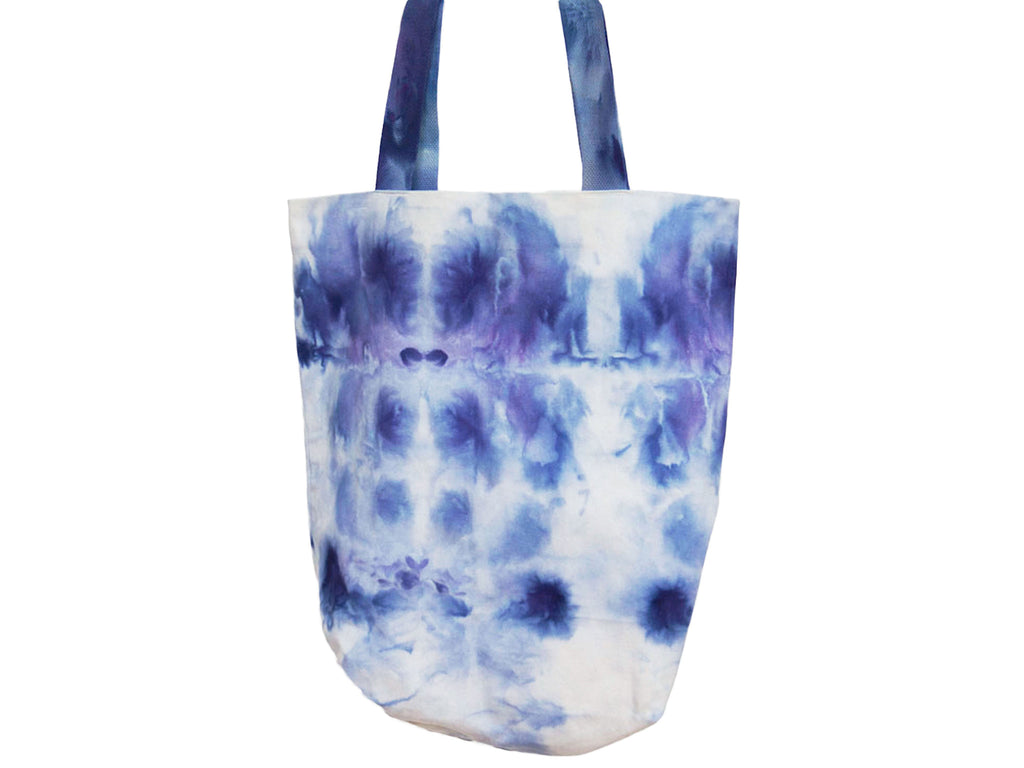 Blue Hand Dyed Everyday Tote Bag