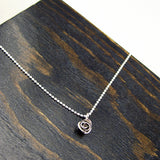 Single Rose Pendant with Chain
