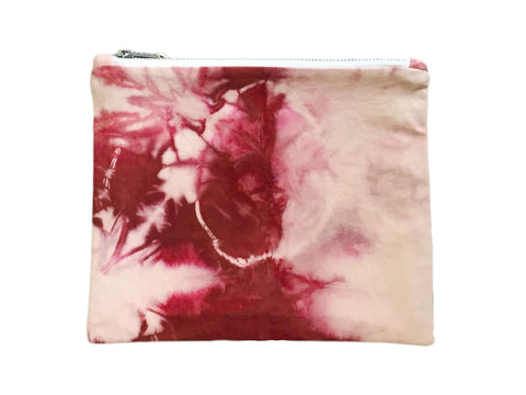 Red Hand Dyed Class Clutch
