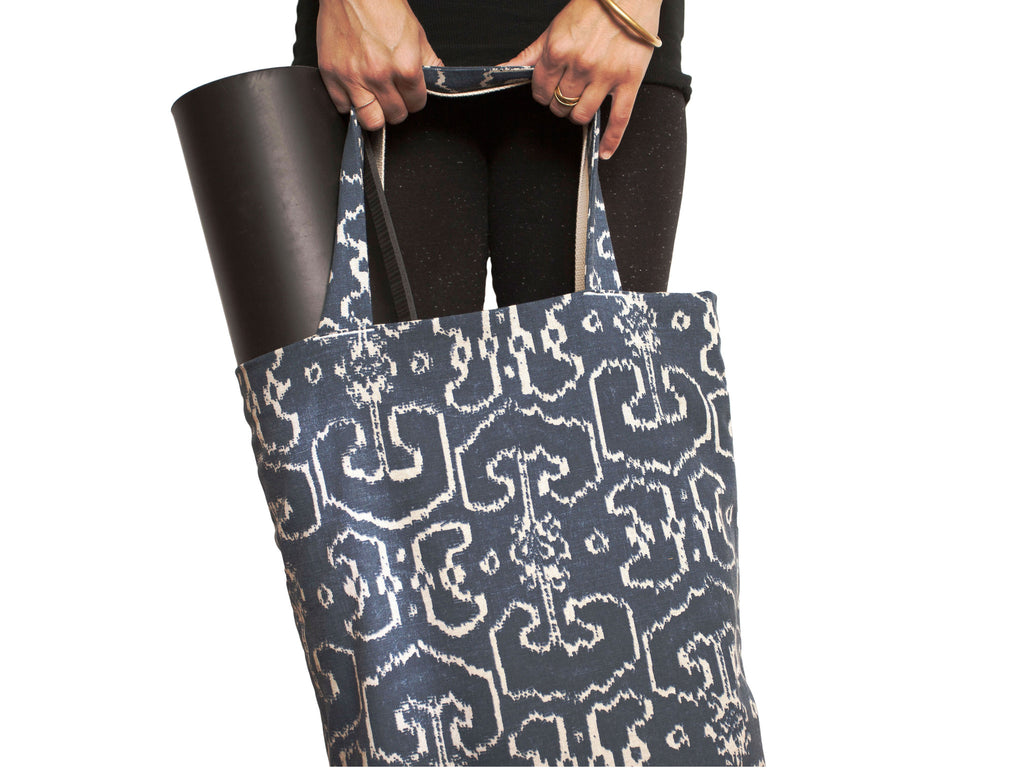 Navy Ikat Everyday Tote Bag