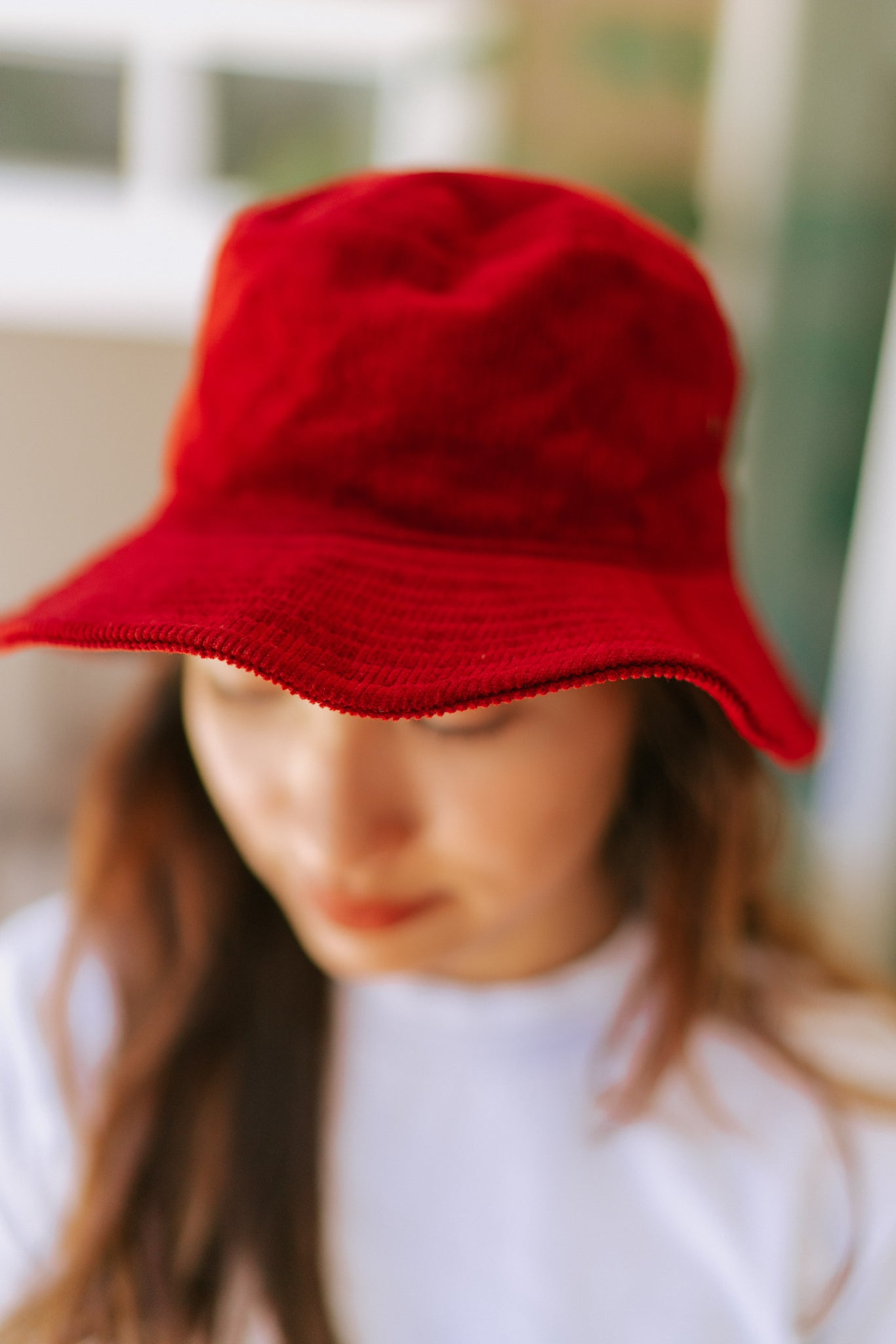 Piper Corduroy Bucket Hat - Burgundy