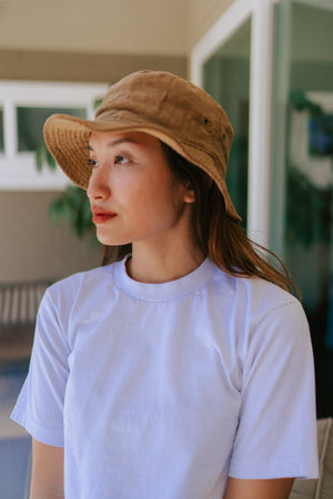 Piper Corduroy Bucket Hat - Tan
