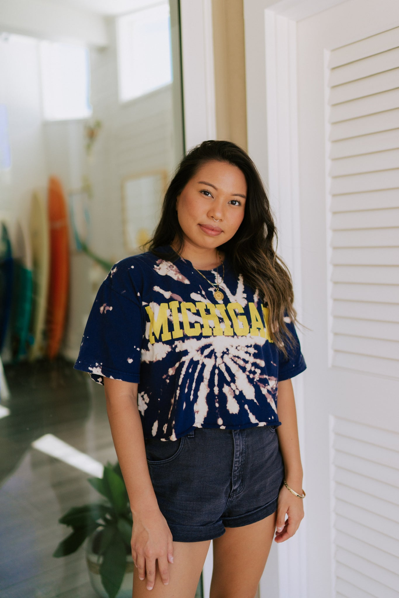 Artesia Vintage Cropped Michigan Tee