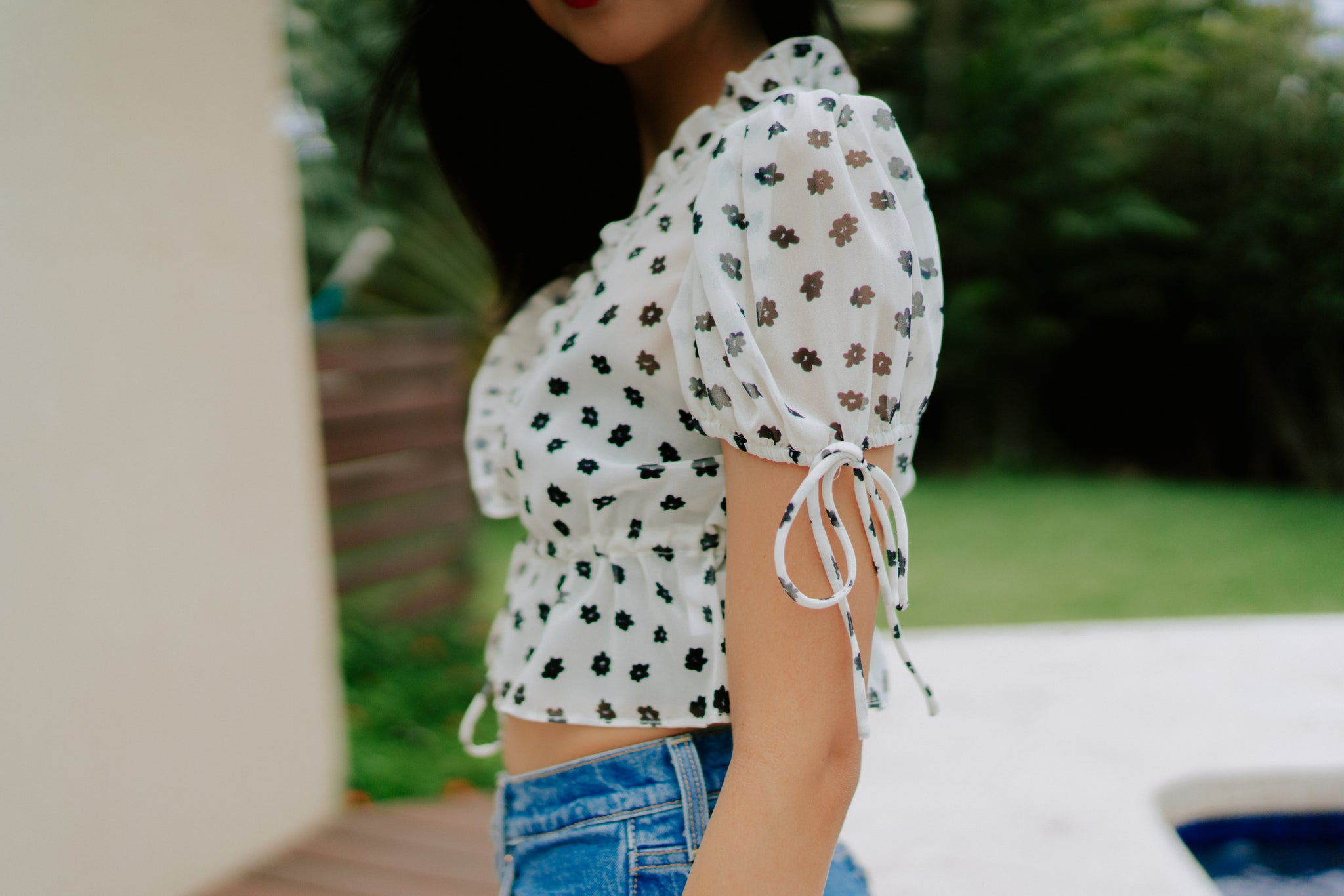 Triny Floral Blouse - Ivory
