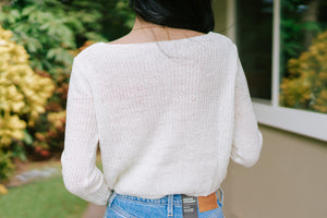 Sylvia Ruched Knit - Off White