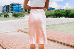 Sabina Midi Skirt - Blush