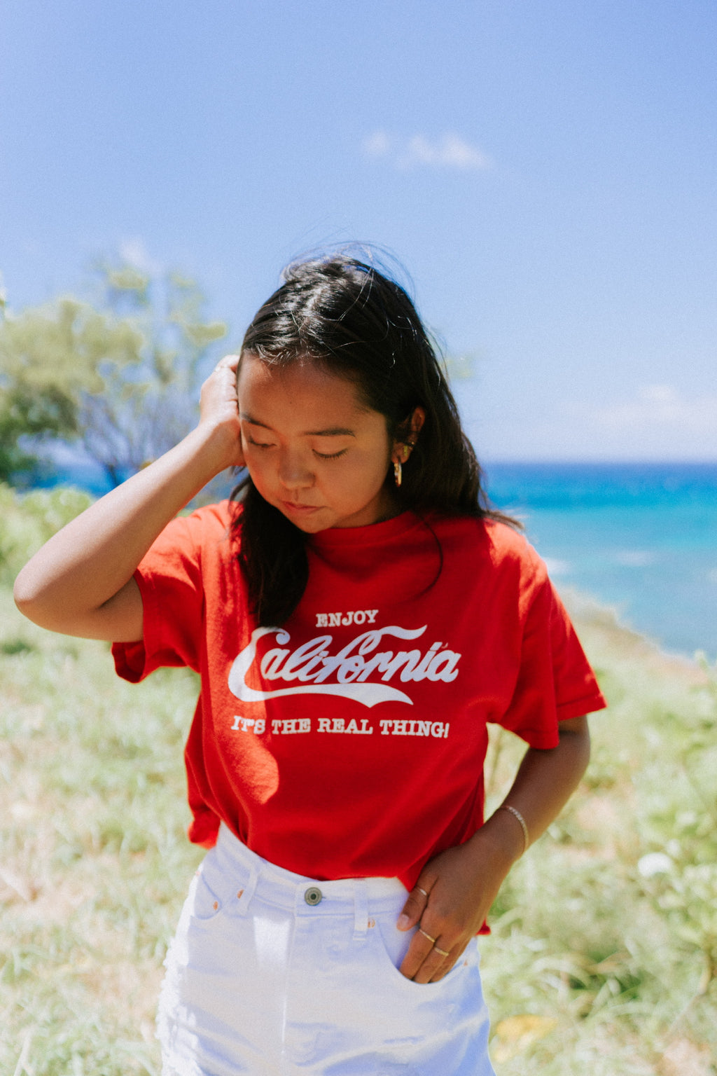 Artesia Vintage Cropped Enjoy California Tee