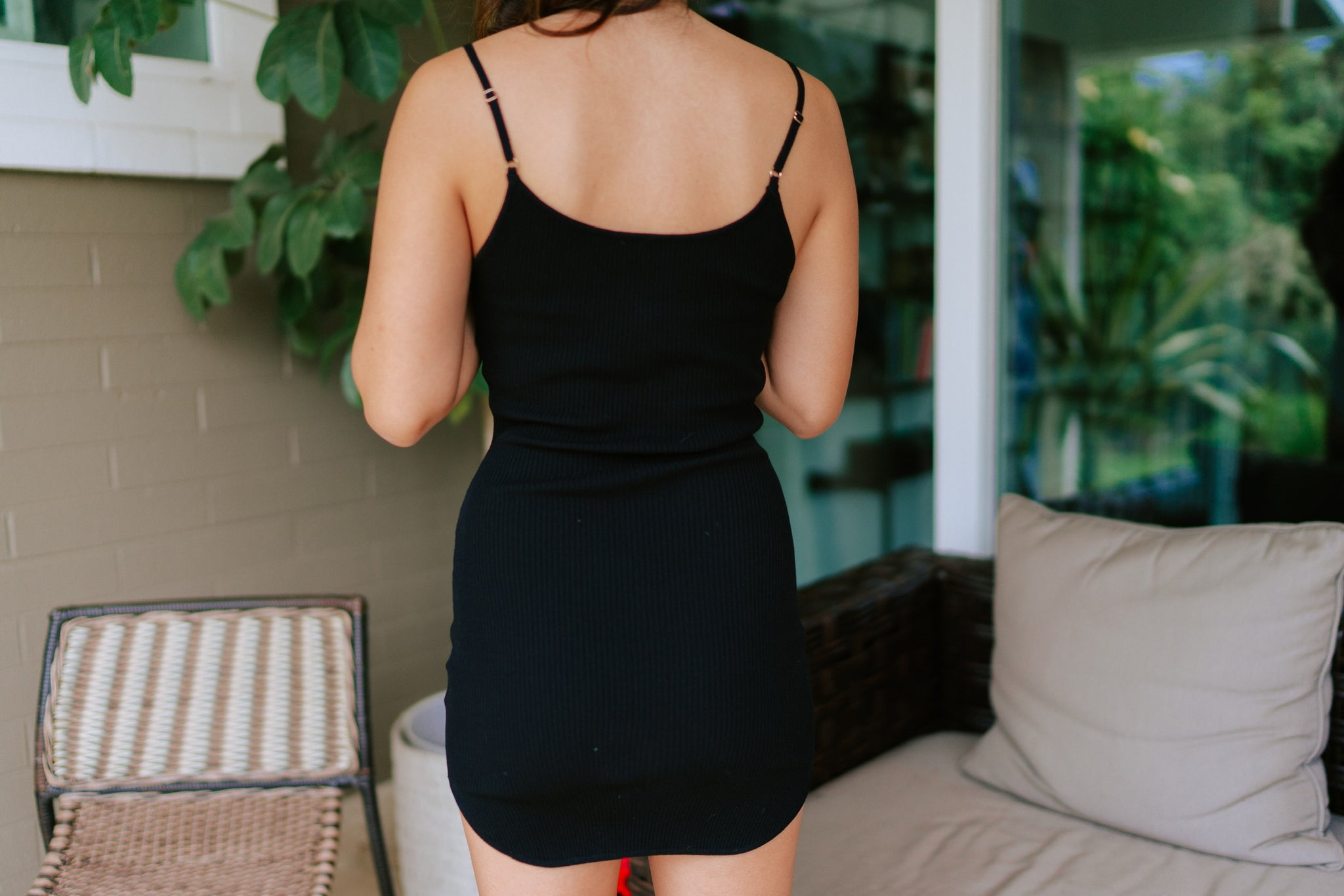 Quincy Ribbed Bodycon - Black