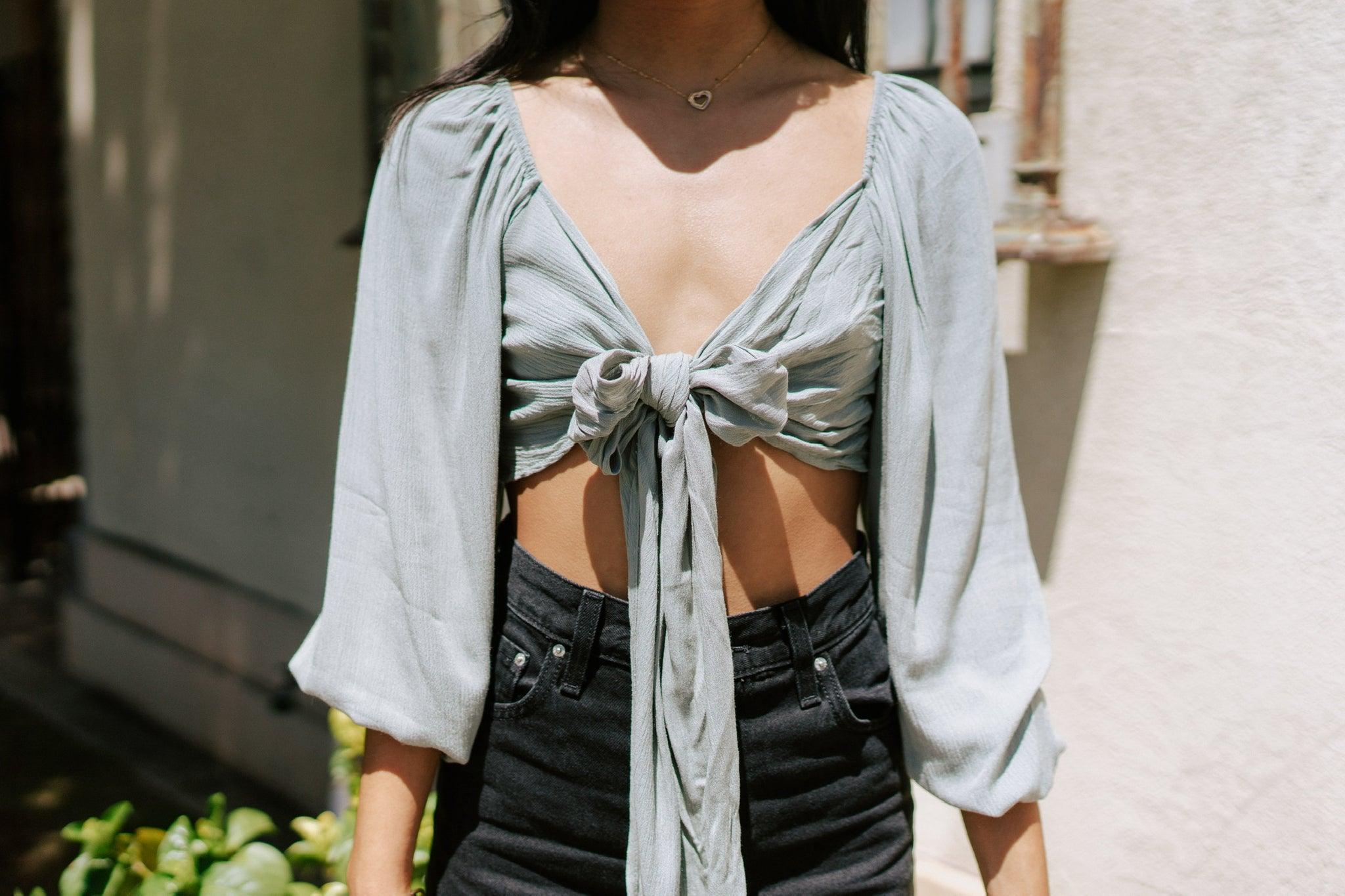 Lilly Wrap Top - Sage