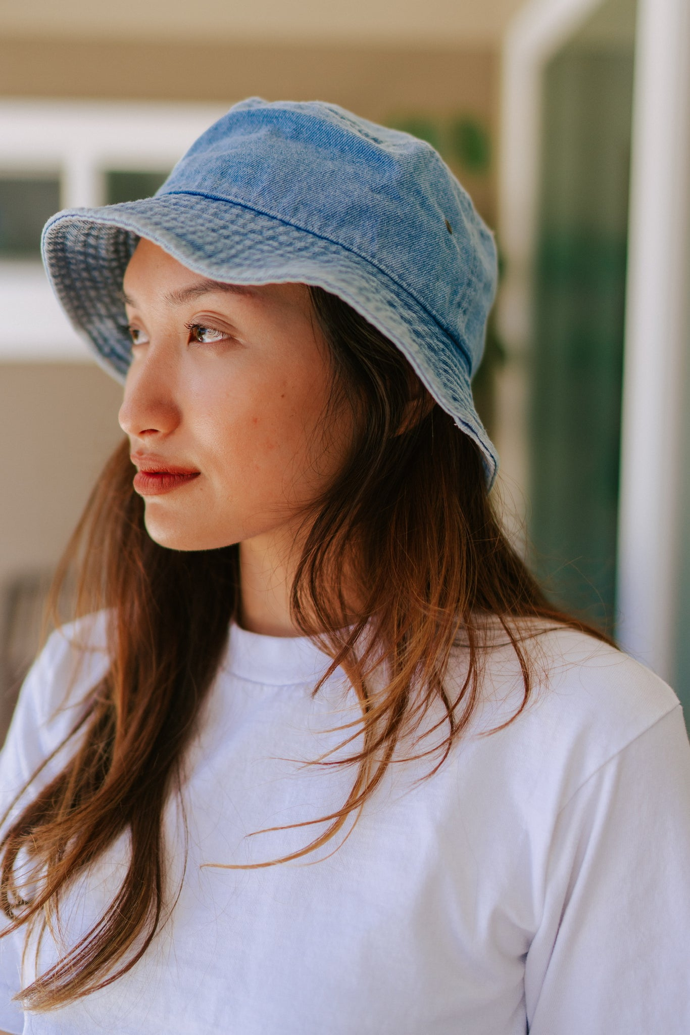 Naomi Denim Bucket Hat - Light Denim