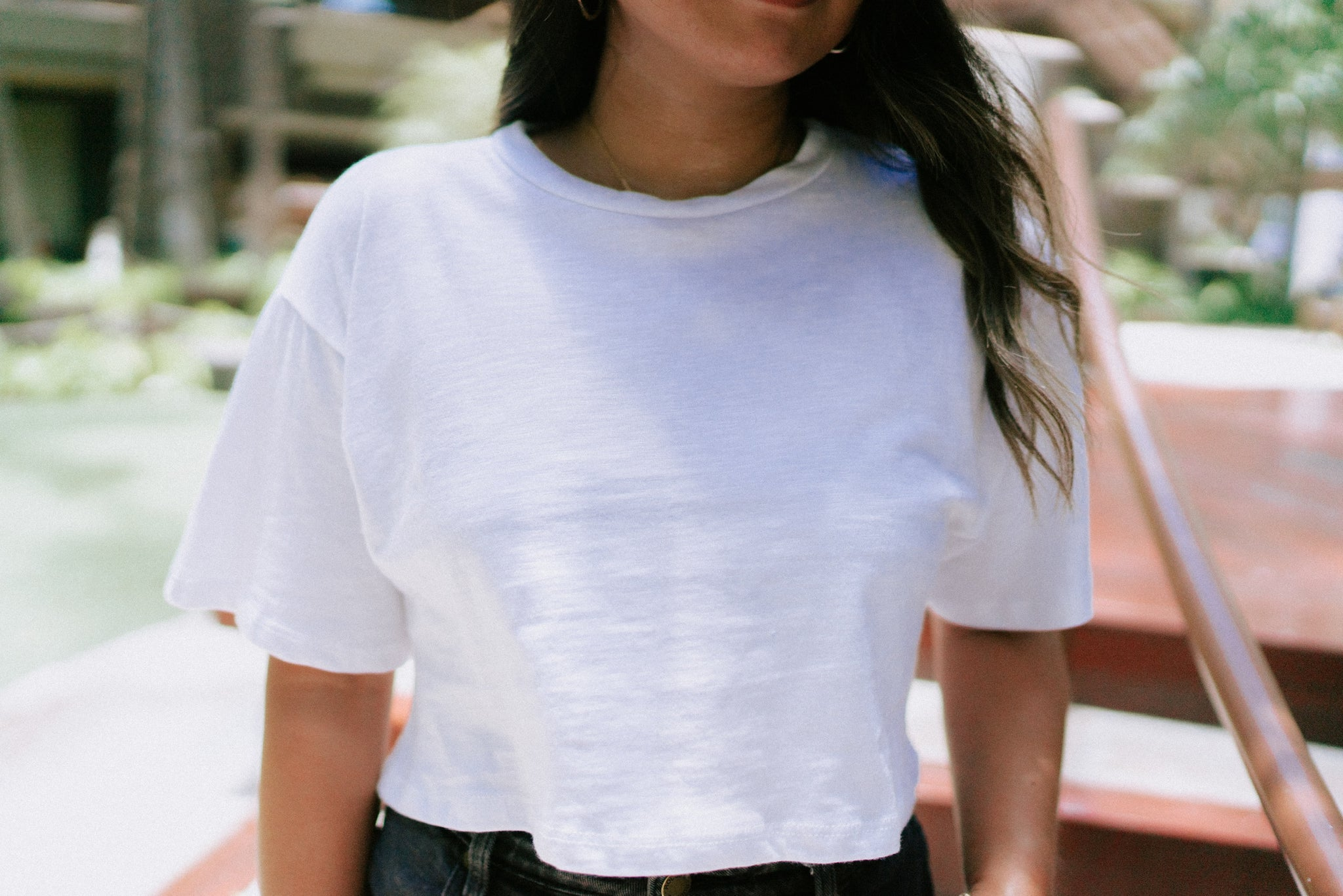 Saba Basic Crop Tee - White