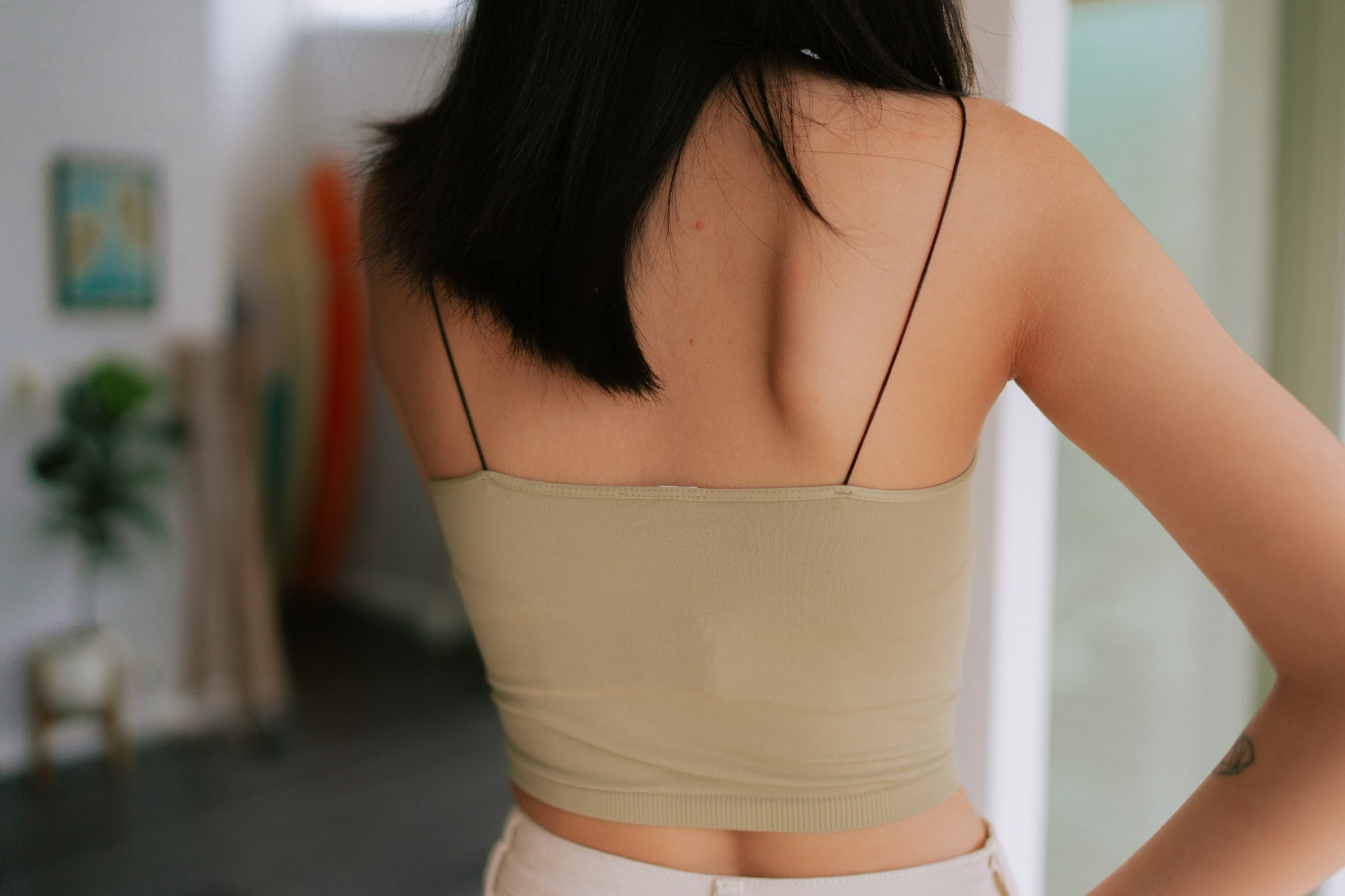 Georgie Seamless Crop - Sage