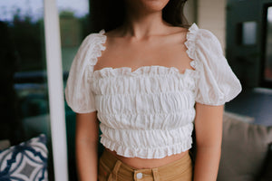 Shailee Cropped Blouse - Ivory