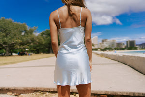Sabina Slip Dress - Cornflower