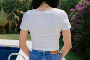Dakota Cropped Tee - Ivory