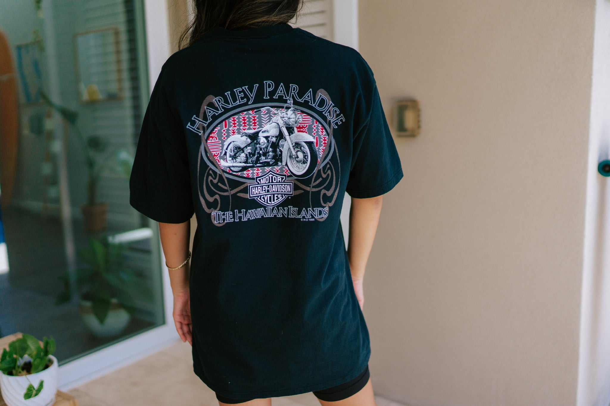 Artesia Vintage Hawaiian Islands Harley Tee