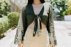 Finnegan Wrap Blouse - Olive