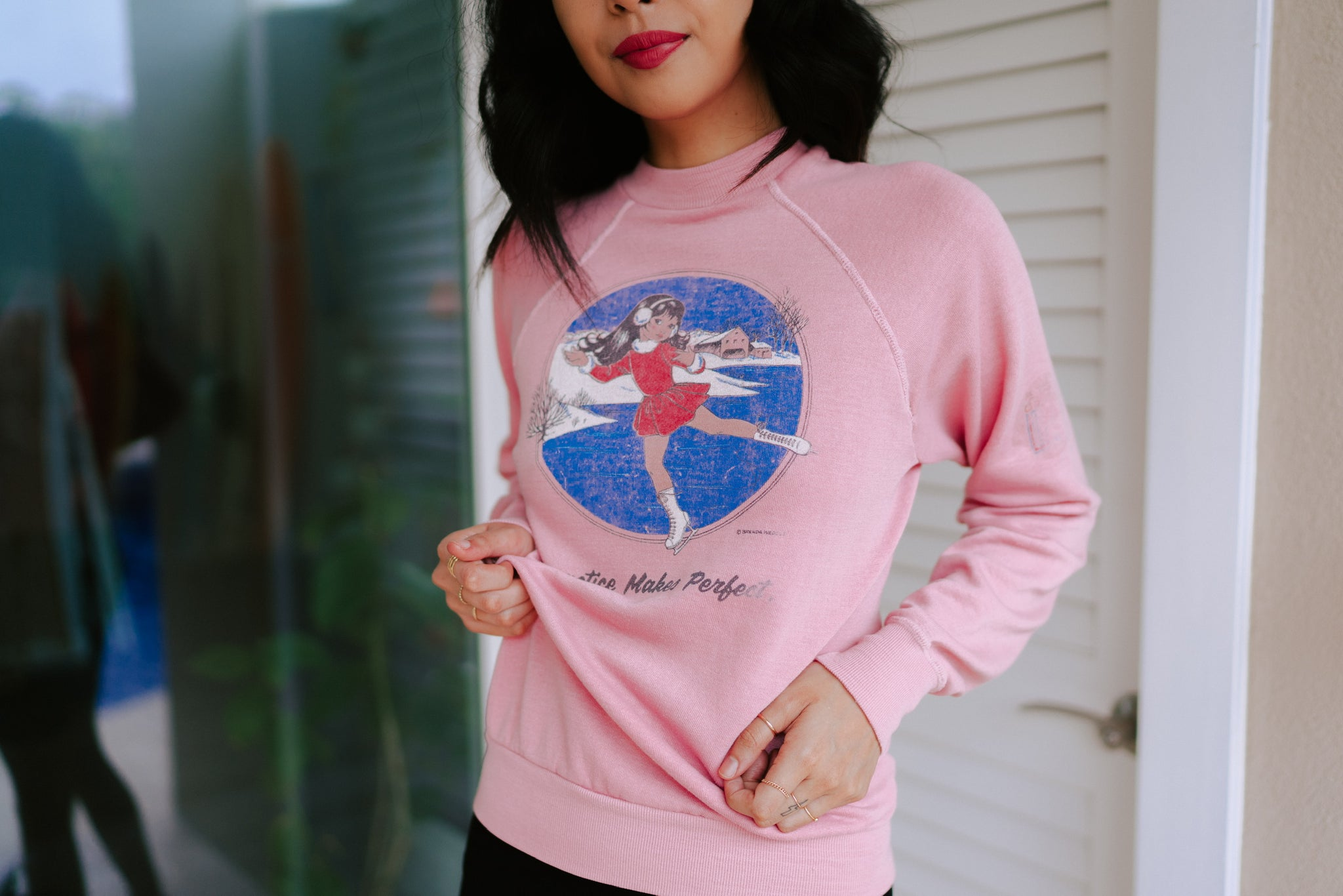 Artesia Vintage Practice Makes Perfect Crewneck Sweatshirt