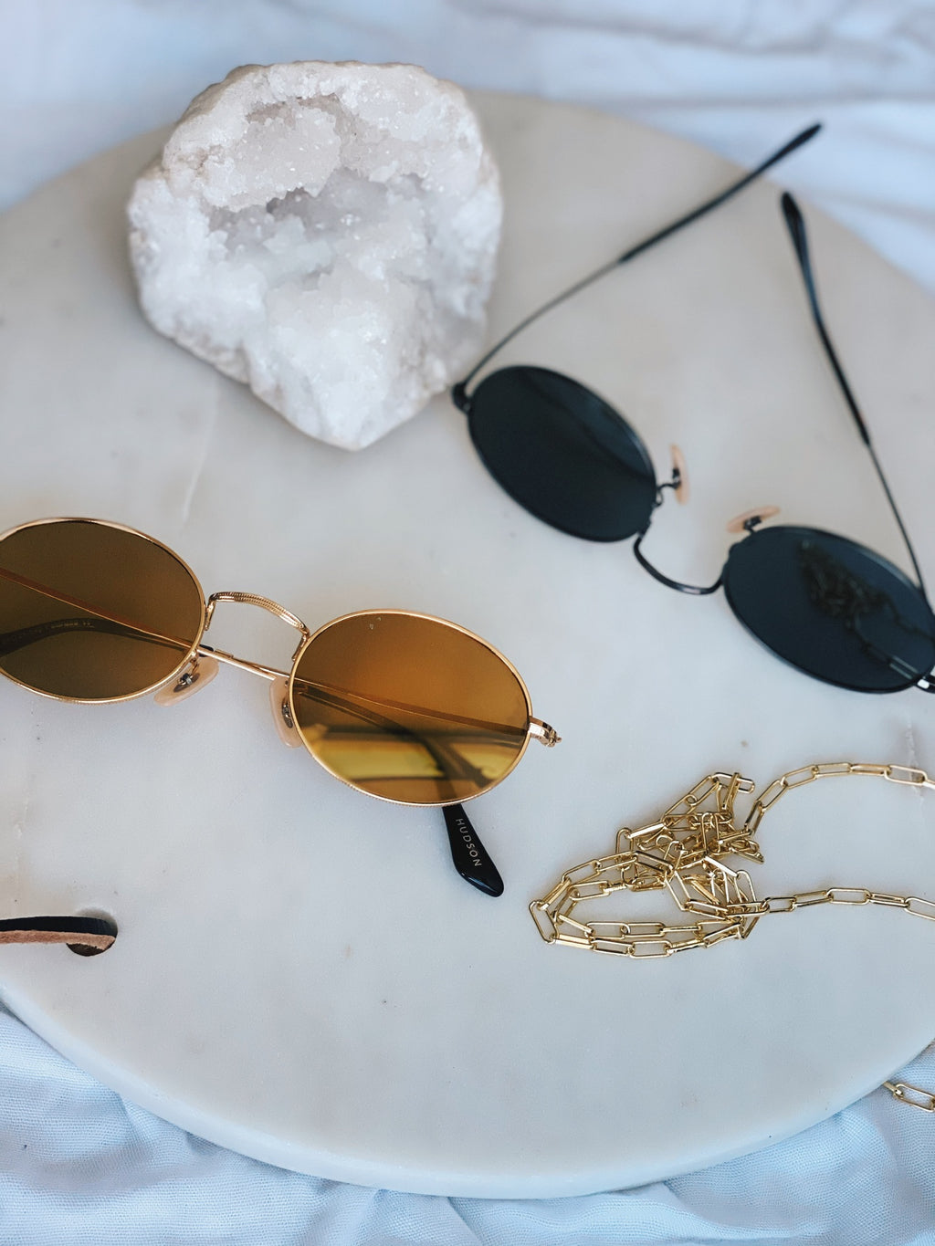 Hudson Polarized Sunnies - Gold / Gold Mirror