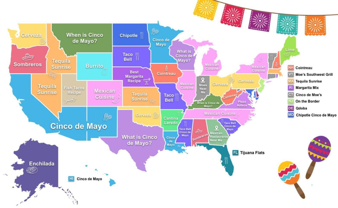 What does your state want to know about Cinco de Mayo?