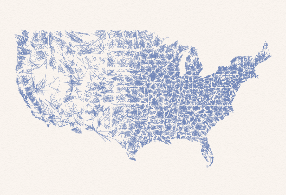 Zippy Zip Code Map Art!