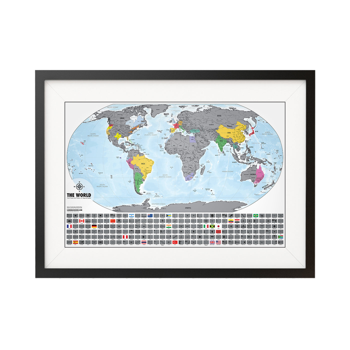 Landmass Scratch Off World Maps Quirky Travel Gifts