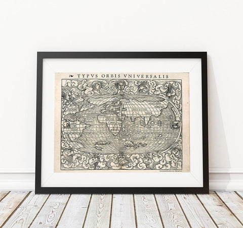 1500's Woodcut World Map