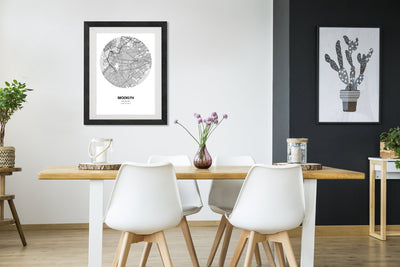 "Brooklyn Map Poster - 18 by 24"" City Map Print"